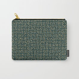 Gold dots on dark green - soft pastel Carry-All Pouch