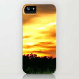 April East Texas Sunset iPhone Case