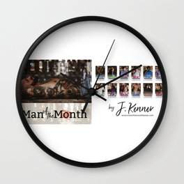 Man of the Month Wall Clock