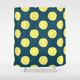 Lemon slice pattern Shower Curtain