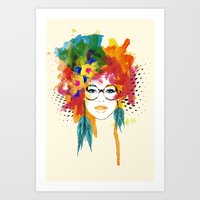 dreamer Art Prints featuring Dreamer by PositIva