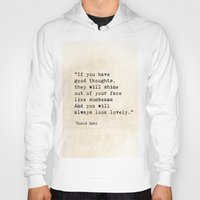 roald dahl Hoodies featuring Roald Dahl Lovely Quote by ShadeTree Photography
