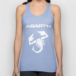 Abarth Scorpion white Unisex Tank Top
