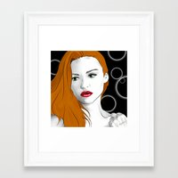 lydia martin Framed Art Prints featuring Lydia Martin by reliand