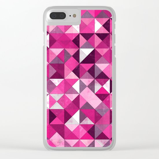 Lovely Geometric Background III Clear iPhone Case