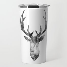 Deer black and white Travel Mug