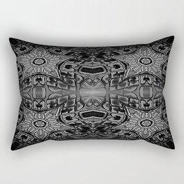 Black Gothic Stars Rectangular Pillow