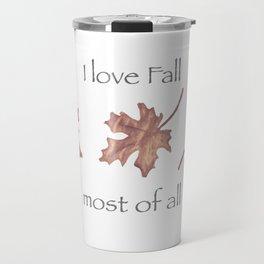 Falling Leaves in Watercolor Travel Mug