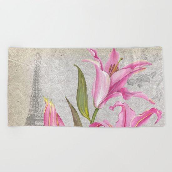 Macro Flower #6 Beach Towel