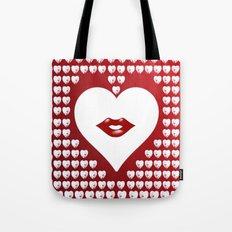 Loving Hearts and Lips Tote Bag