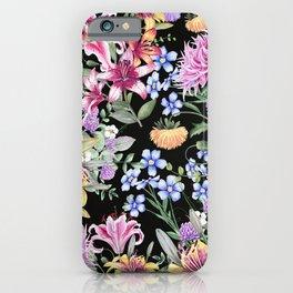 FLORAL GARDEN 3 #floral #flowers #vintage iPhone Case
