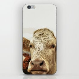 A cow greeting is like no other iPhone Skin