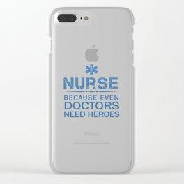 NURSE HEROES Clear iPhone Case