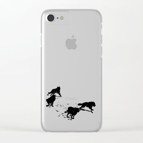snowblinded // (wolf pack) Clear iPhone Case