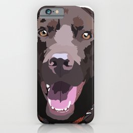 Libby the Chocolate Lab iPhone Case