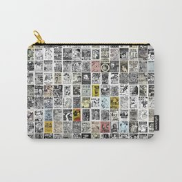 1980's Vintage Punk Flyers Carry-All Pouch