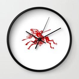 Skeleton Horse Rider Wall Clock