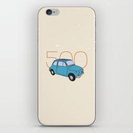 Fiat 500 - Classic Vintage Car iPhone Skin