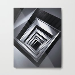 Rolling Squares Down Metal Print