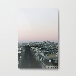 View of Sacré-Cœur from the Arc de Triomphe Metal Print