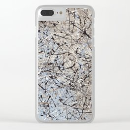 High Again - abstract painting by Rasko Clear iPhone Case