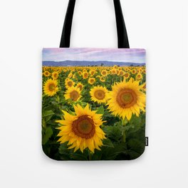 Field of Sunflowers, California Tote Bag