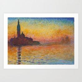 Claude Monet San Giorgio Maggiore at Dusk (Venice) Art Print