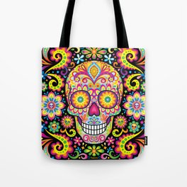 Sugar Skull Art (Spark) Tote Bag