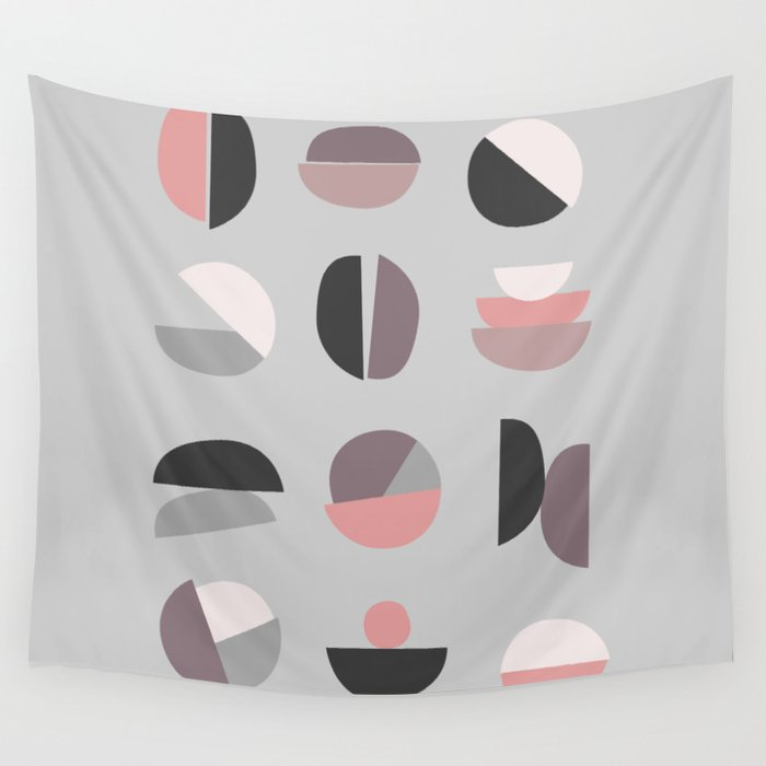 Pastel Geometry 4 Wall Tapestry