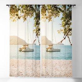 Fitzroy Island Catamaran | Cairns Australia Tropical Beach Sunset Photography Blackout Curtain