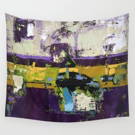 Controversy Prince Deep Purple Abstract Painting Modern Art Wall Tapestry