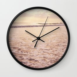 Quiet Moments on Cayucos Beach Wall Clock