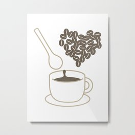 I love coffee Metal Print