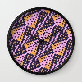 Chocktaw Geometric Square Cutout Pattern - Amazon Flower Wall Clock