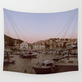 Croatian Harbour Wall Tapestry