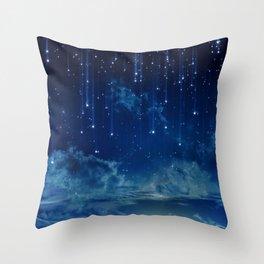 Falling stars I Throw Pillow