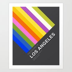 Colors of Los Angeles Art Print
