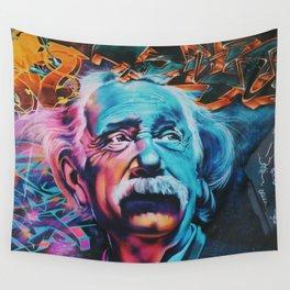 Einstein graffiti Wall Tapestry