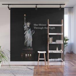 She Shines Through the Night 2 Wall Mural