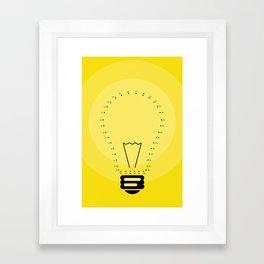 Join your Ideas Framed Art Print