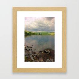 Brecon Beacons Reservoir Framed Art Print