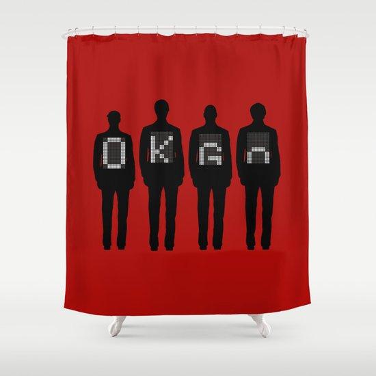 Tim, Damian, Dan & Andy Shower Curtain