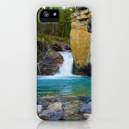 Bottom of Beauty Creek Canyon in Jasper National Park, Canada iPhone Case