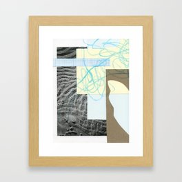 collage with map Framed Art Print