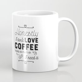 I don't love coffee - I need it Coffee Mug