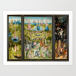 Hieronymus Bosch's The Garden of Earthly Delights Art Print