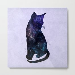 Galactic Cat Metal Print