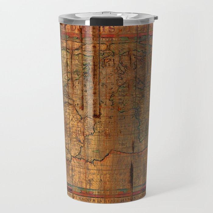 Distressed Old Map Travel Mug