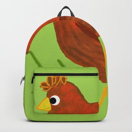 Chicken with Heart Pattern Backpack