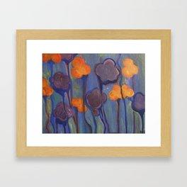Flowered Atmosphere Framed Art Print